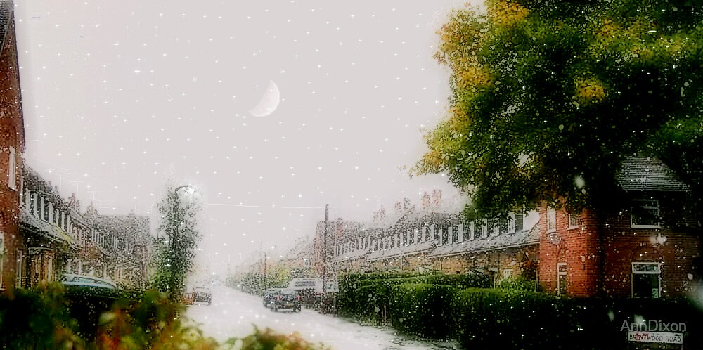 Snowy Day in October by AnnDixon
