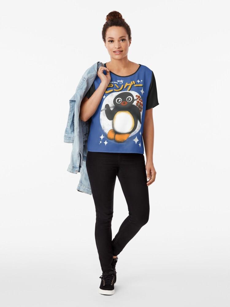 Alternative Ansicht von Die Pingu Show Chiffon Top