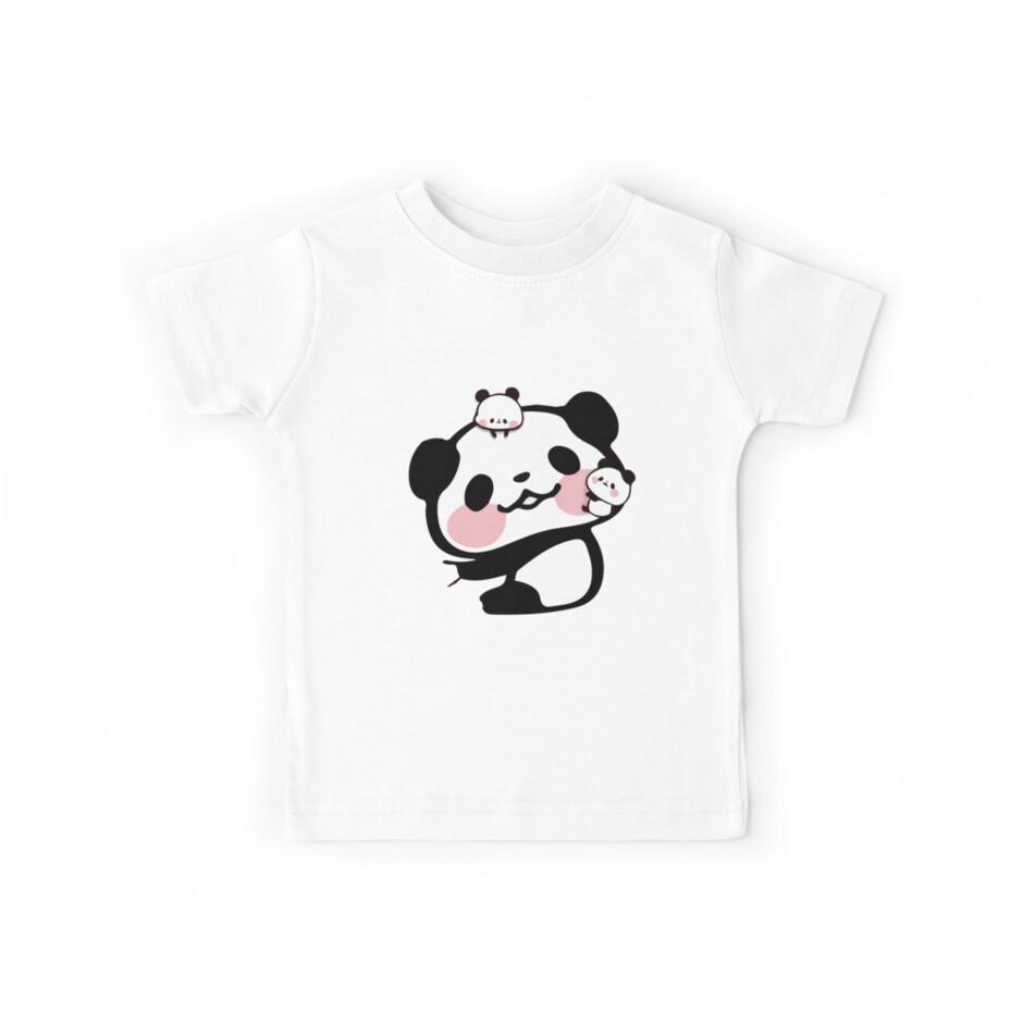 Cute Kawaii Pandas Hugging Love Novelty Print by JapaneseInkArt
