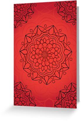 Mandala - Red - Root Chakra by Cara Archer