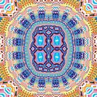 Decorative Multicolored Symmetrical Pattern by MarfffaArt