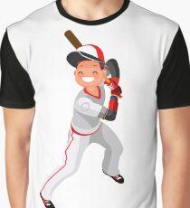 Baseball Vector Boy Mascot Poster Graphic T-Shirt