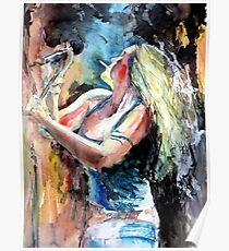 Beth Hart Abstract Poster