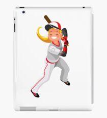Baseball Vector Girl Mascot Vector iPad Case/Skin