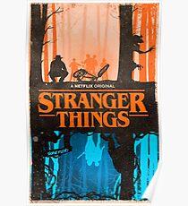 Stranger Things Orange/Blue Poster