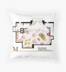 Mary Richards apt. from The Mary Tyler Moore Show Throw Pillow