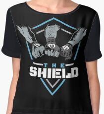 The Shield Blue-White [Available in 10 colors] Chiffon Top