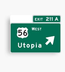Welcome to Utopia Canvas Print
