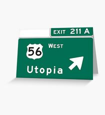Welcome to Utopia Greeting Card