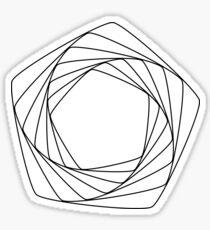 pentagonal pattern Sticker