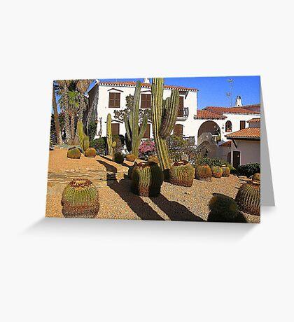 A Garden In Menorca Greeting Card