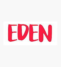 EDEN - RED Photographic Print