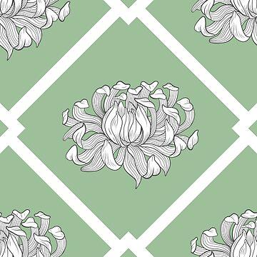 Chrysantheme auf Pistazienwiese von runcatrun