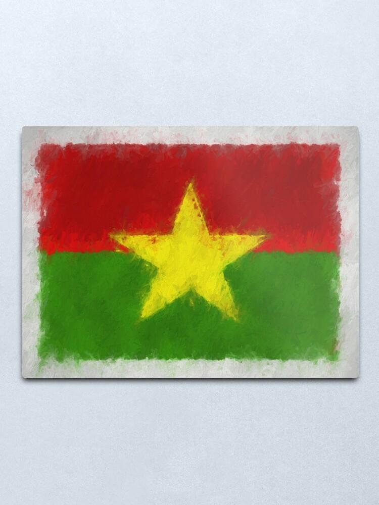 Alternate view of Burkina Faso Flag Reworked No. 66, Series 4 Metal Print