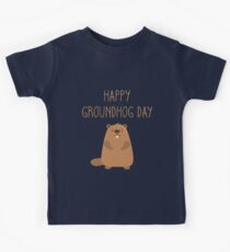 2018 Happy Groundhog Day Kids Tee