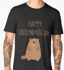 2018 Happy Groundhog Day Men's Premium T-Shirt