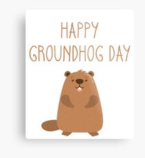 2018 Happy Groundhog Day Metal Print