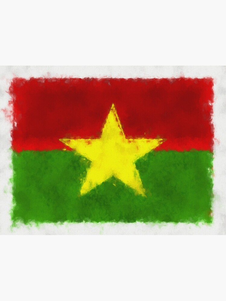 Burkina Faso Flag Reworked No. 66, Series 5 by 8th-and-f