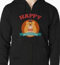 Happy Groundhog Day 2018 Zipped Hoodie