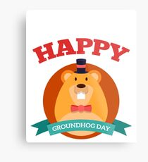 Happy Groundhog Day 2018 Metal Print