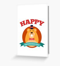 Happy Groundhog Day 2018 Greeting Card