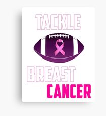 Tackle breast cancer  Canvas Print