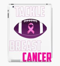 Tackle breast cancer  iPad Case/Skin