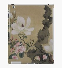 flowers, a butterfly, and a twisted rock iPad Case/Skin