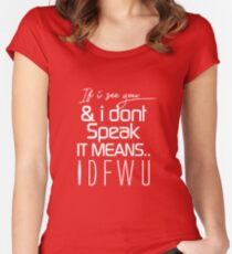 IDFWU Women's Fitted Scoop T-Shirt