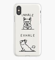Inhale Exhale Frenchie iPhone Case