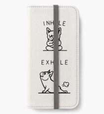 Inhale Exhale Frenchie iPhone Wallet/Case/Skin