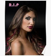 August Ames T-shirt rest in peace rip Poster
