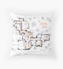 The Golden Girls House floorplan v.1 Throw Pillow