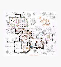 Die Golden Girls Haus Grundriss v.1 Fotodruck