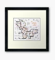 The Golden Girls House floorplan v.2 Framed Print