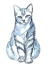 Cat, watercolor by Kendra Shedenhelm
