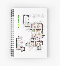 Beach House of Charlie Harper from T & aHM Spiral Notebook