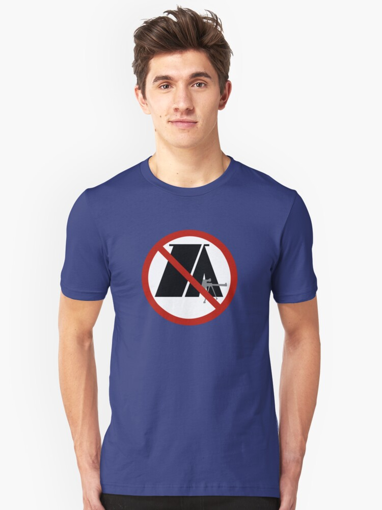 No Camping Unisex T-Shirt Front