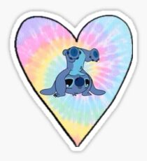 Stich rainbow heart Sticker