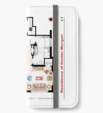 Floorplan of the apartment from DEXTER - V.1 iPhone Wallet/Case/Skin