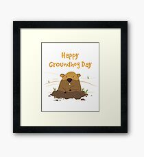 Groundhog Day 2019 Framed Print