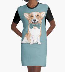 Corgi Dog Graphic T-Shirt Dress
