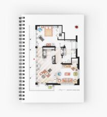 Floorplan of the apartment from DEXTER - V.1 Spiral Notebook