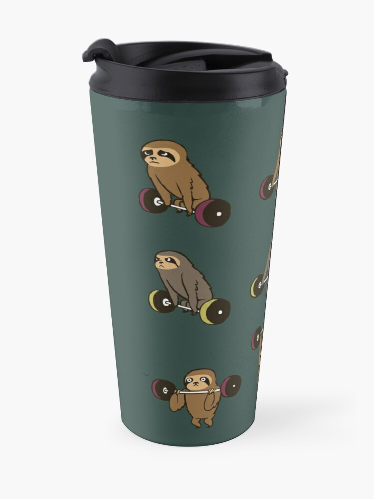 Alternate view of OLYMPIC LIFTING SLOTHS Travel Mug