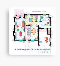 House of Simpson family - Ground Floor Canvas Print