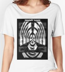 SWAN LAKE : Abstract Surreal Ballet Advertising Women's Relaxed Fit T-Shirt