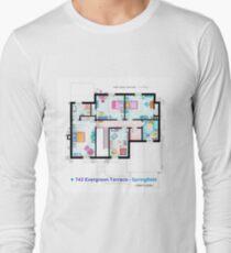 House of Simpson family - First Floor Long Sleeve T-Shirt