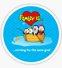 Family of penguins. Family is... Sticker