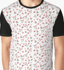 Christmas Penguin and Bear pattern Graphic T-Shirt