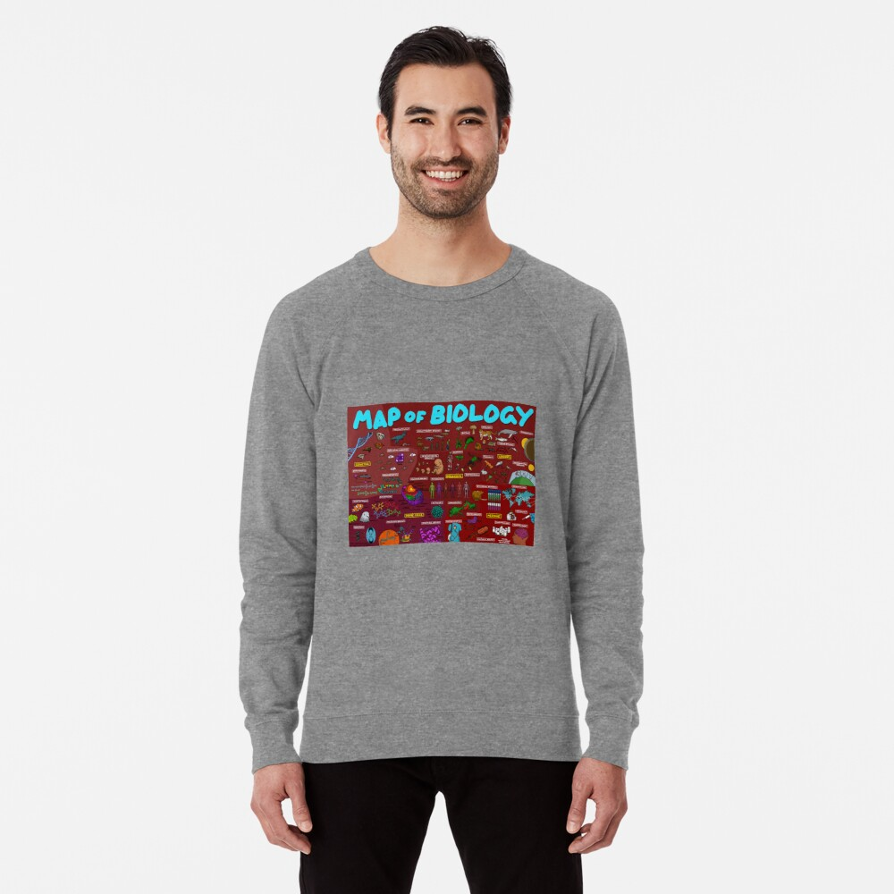 Map of Biology Lightweight Sweatshirt